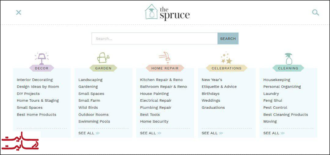 سایت دکوراسیون داخلی the spruce