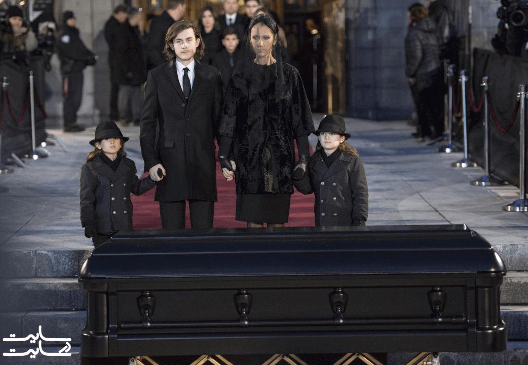 مراسم تشییع همسر سلین دیون، رنه آنژیل