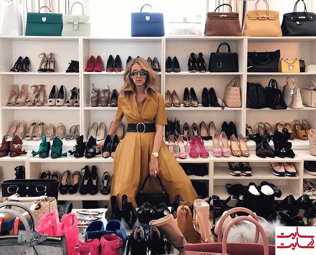 عشق سلین دیون به کیف و کفش