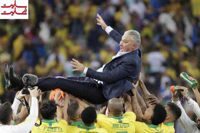 خوشحالی تیم برزیل بعد از کوپا آمریکا ۲۰۱۹