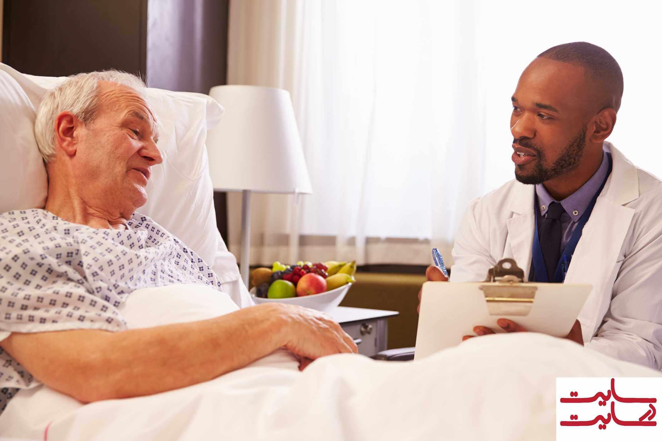 پیگیری وضعیت بیمار توسط دکتر